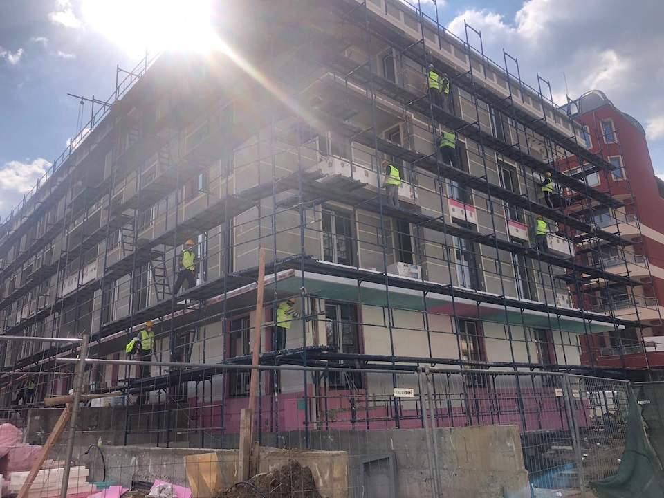 Строителството на сграда