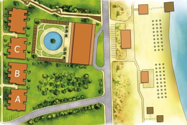 Генерален план: Апартаменти в Green Life Beach Residence на плажа Каваци