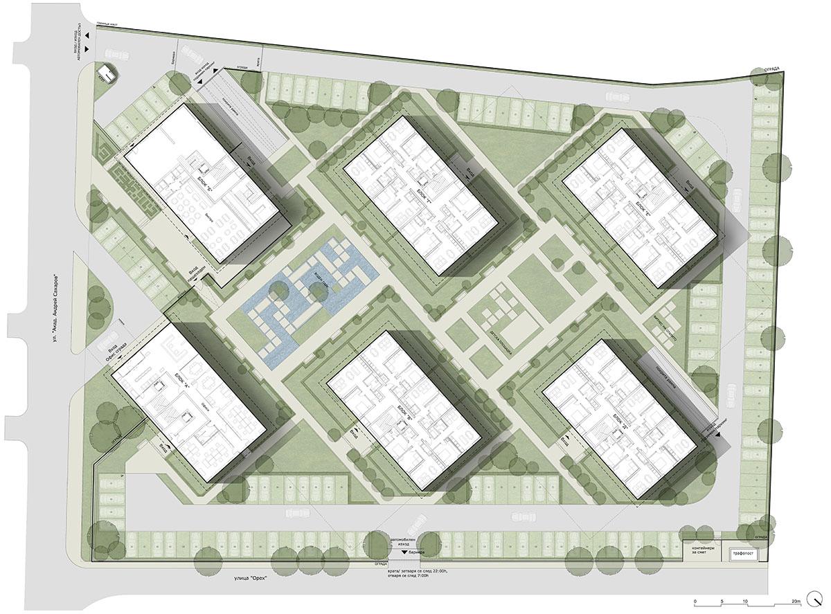 Генерален план: Иновативен жилищен комплекс до Grand Mall Варна