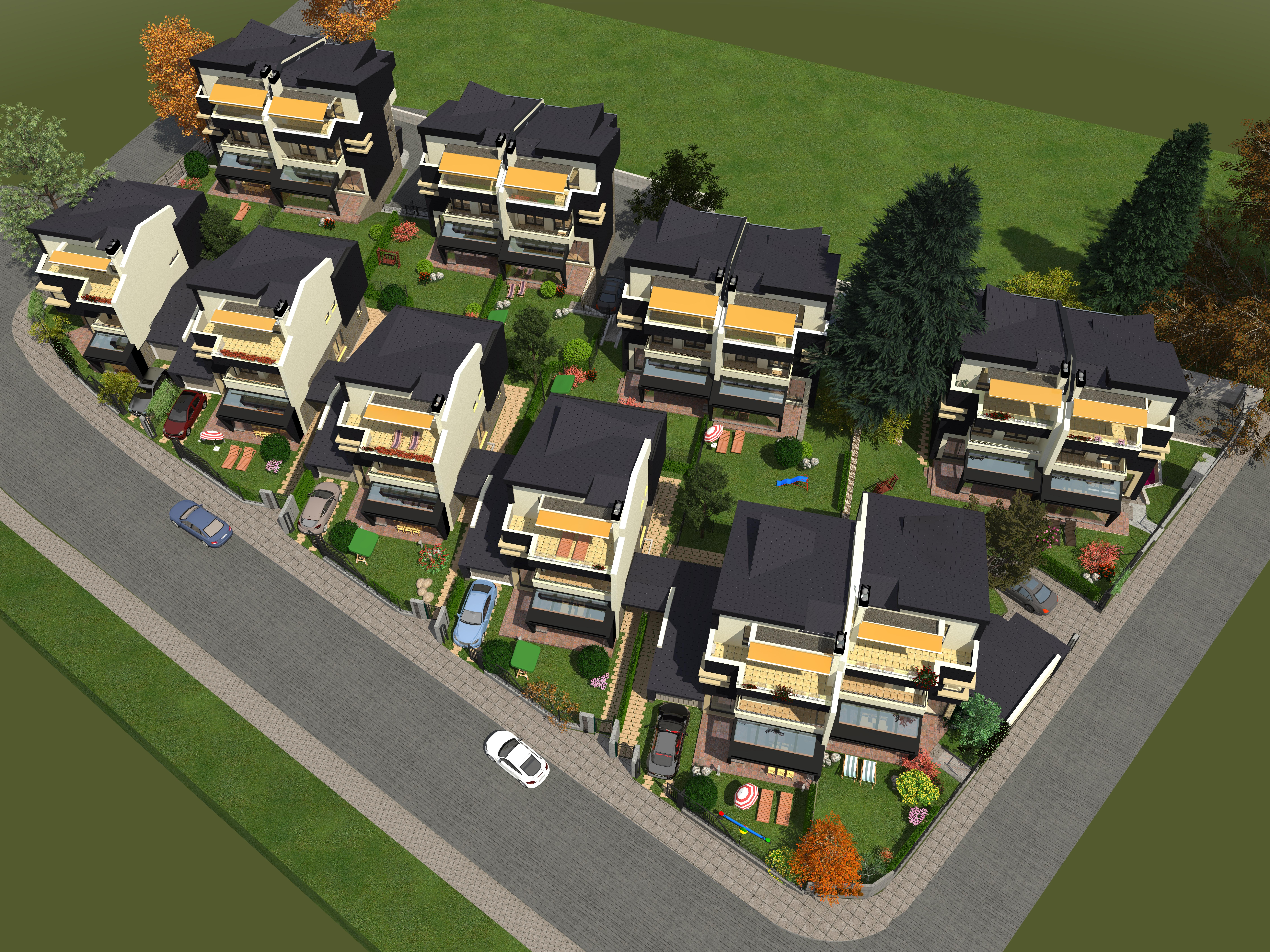 Генерален план: Нови къщи в кв. Бояна в полите на Витоша