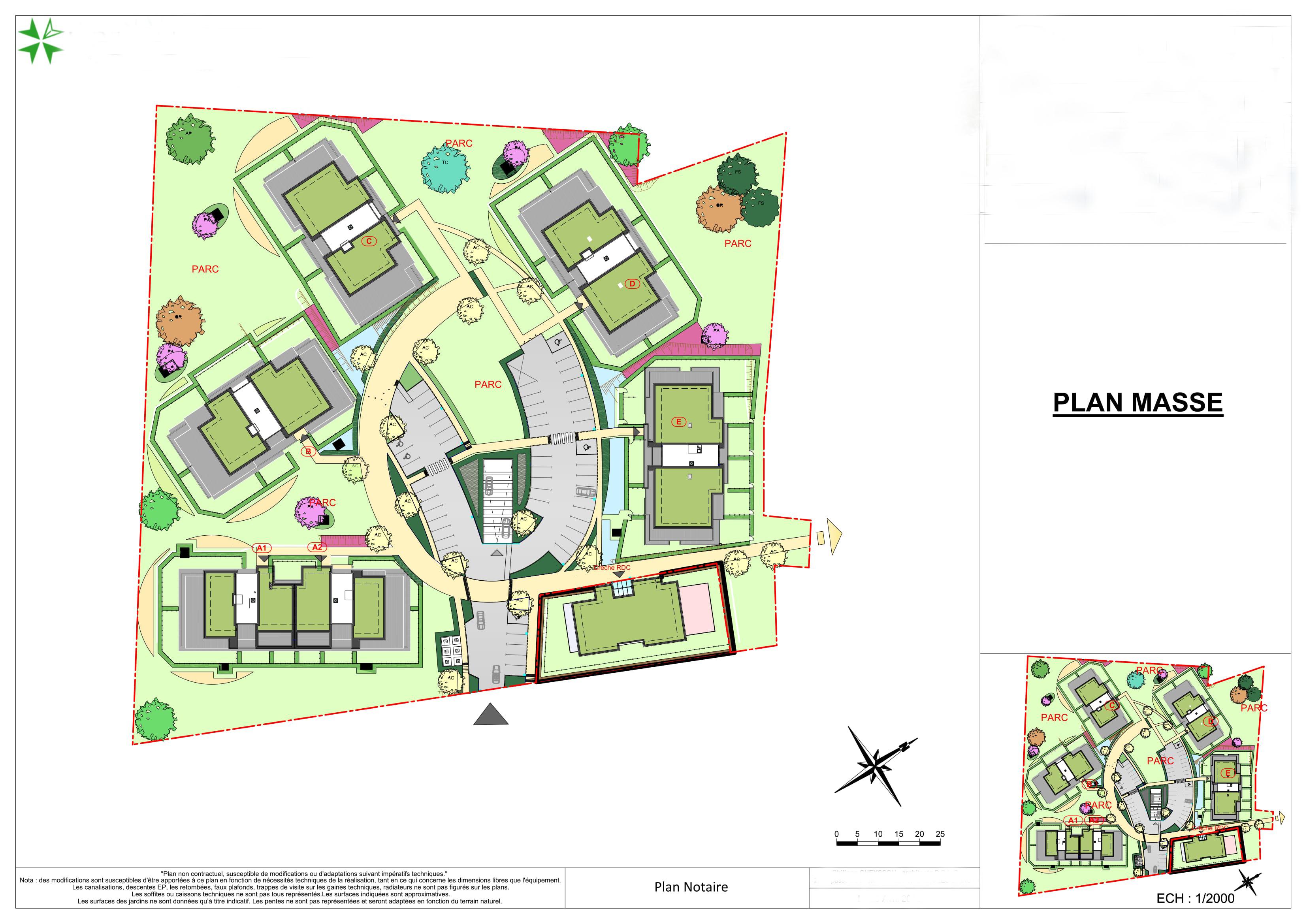 Генерален план: Нови апартаменти във френски град Thoiry, 10 км от Женева