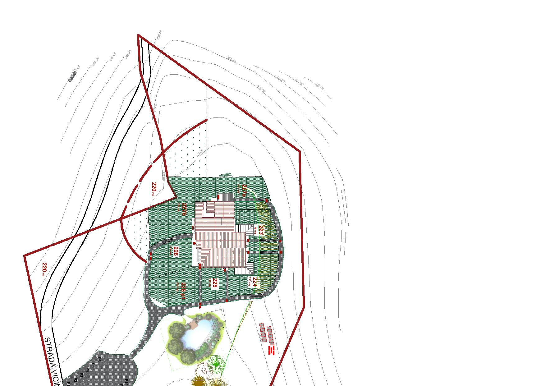 Генерален план: Podere Quercerto: комфортни апартаменти в Тоскана