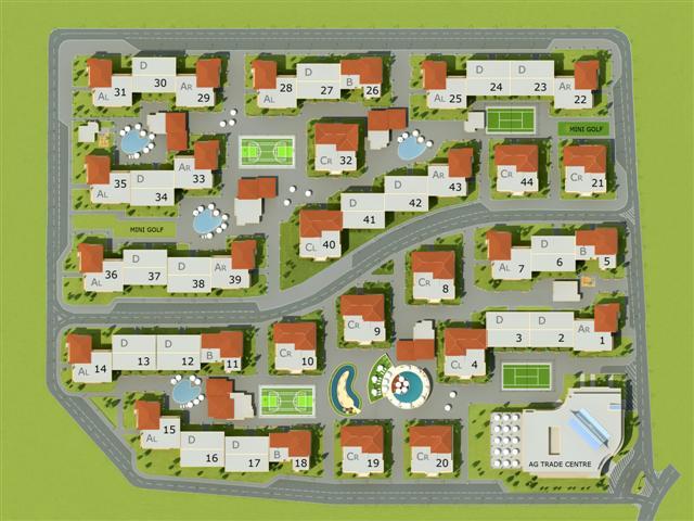 Генерален план: Апартаменти на атрактивни цени в затворен комплекс до Слънчев бряг