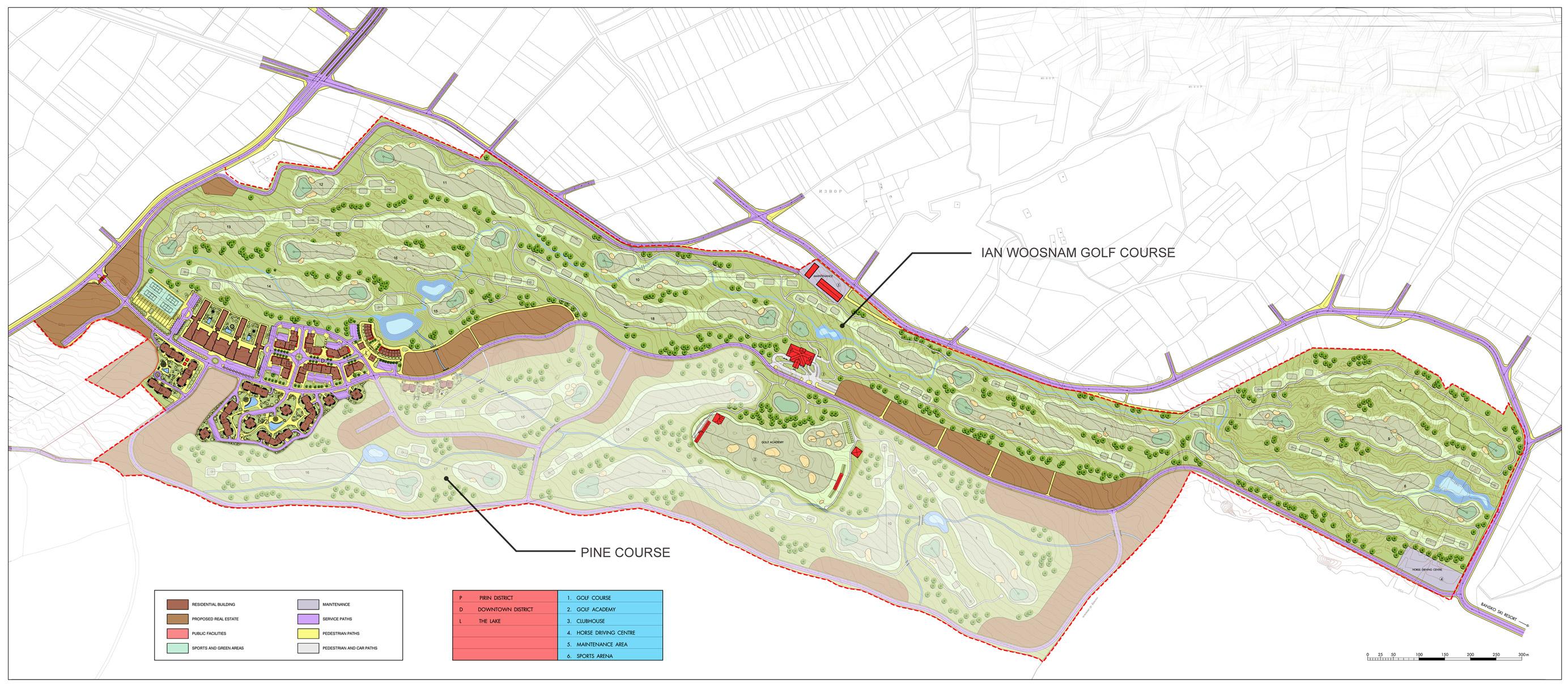Генерален план: Ваканционни апартаменти в Pirin Golf комплекс до Пирин
