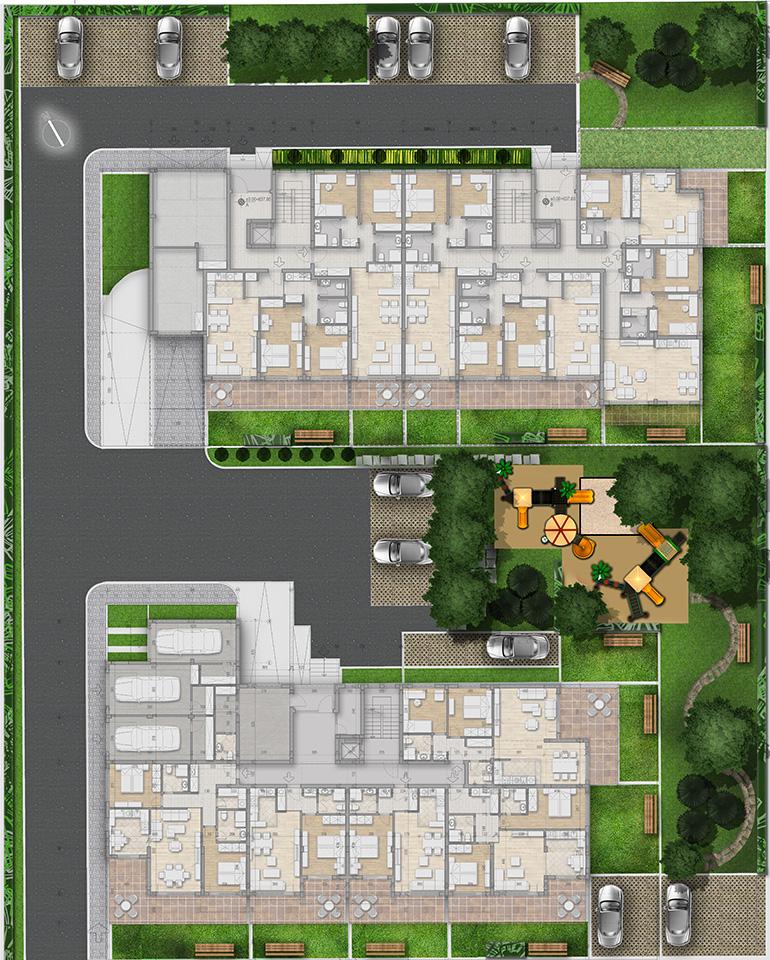 Генерален план: Модерни градски жилища в стилен комплекс