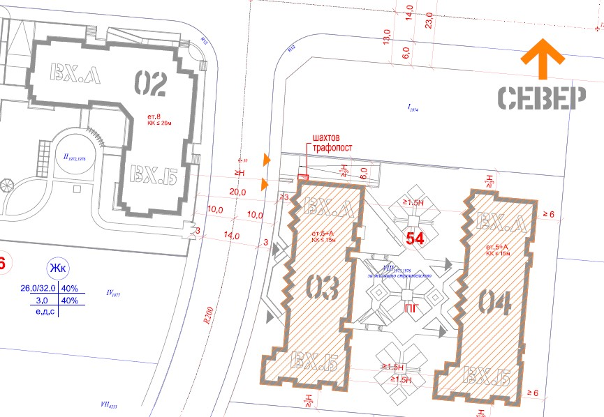 Генерален план: Две жилищни сгради в спокоен и хубав район