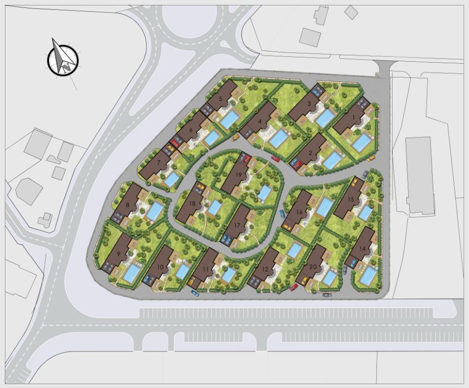 Генерален план: Нов комплекс от първокласни къщи за цялото семейство