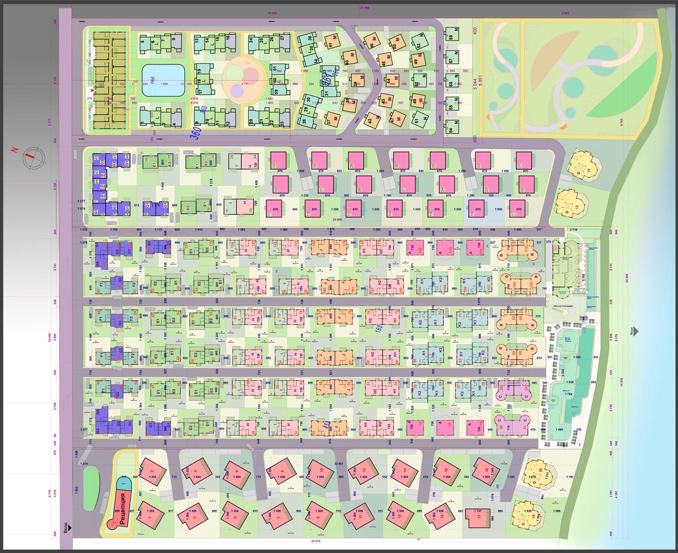Генерален план: Комплекс от къщи с балнеосанаториум на първа линия