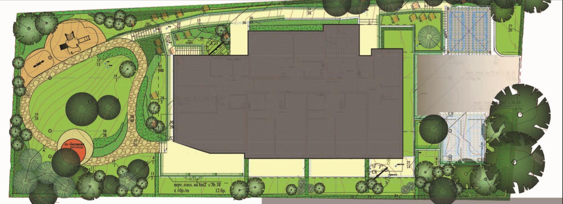 Генерален план: Pine View - нова жилищна сграда с луксозни апартаменти в квартал
