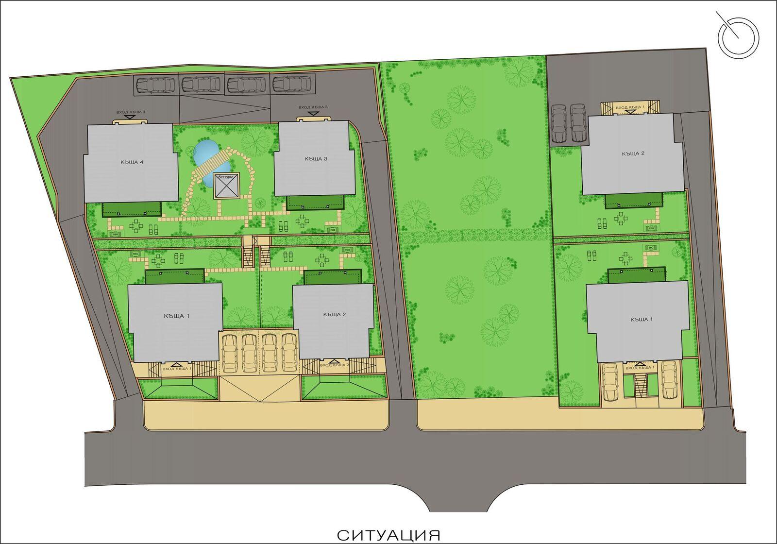 Генерален план: Луксозни къщи в полите на Витоша, в близост до Ring Mall и IKEA