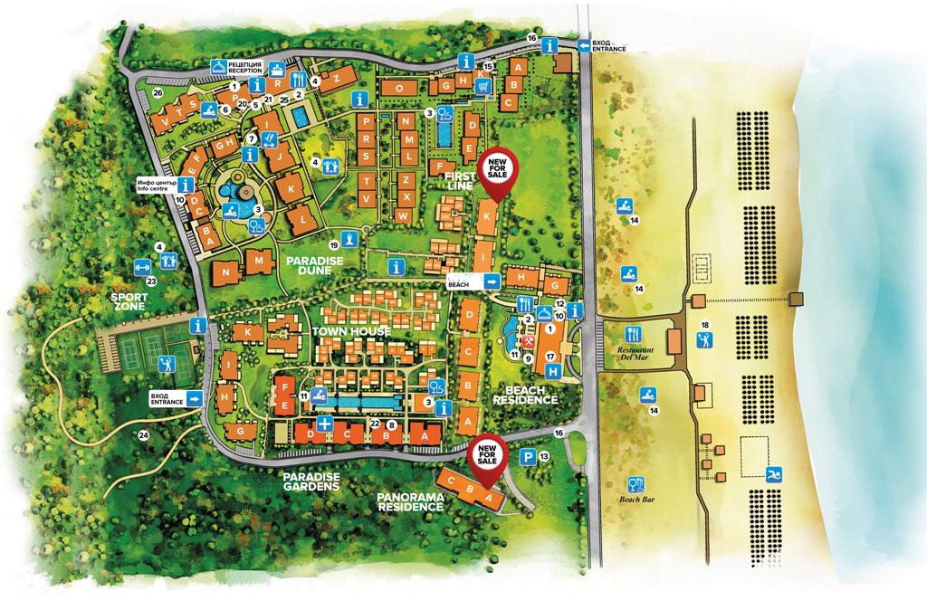 Генерален план: Апартаменти от най-новата фаза на премиум комплекс на