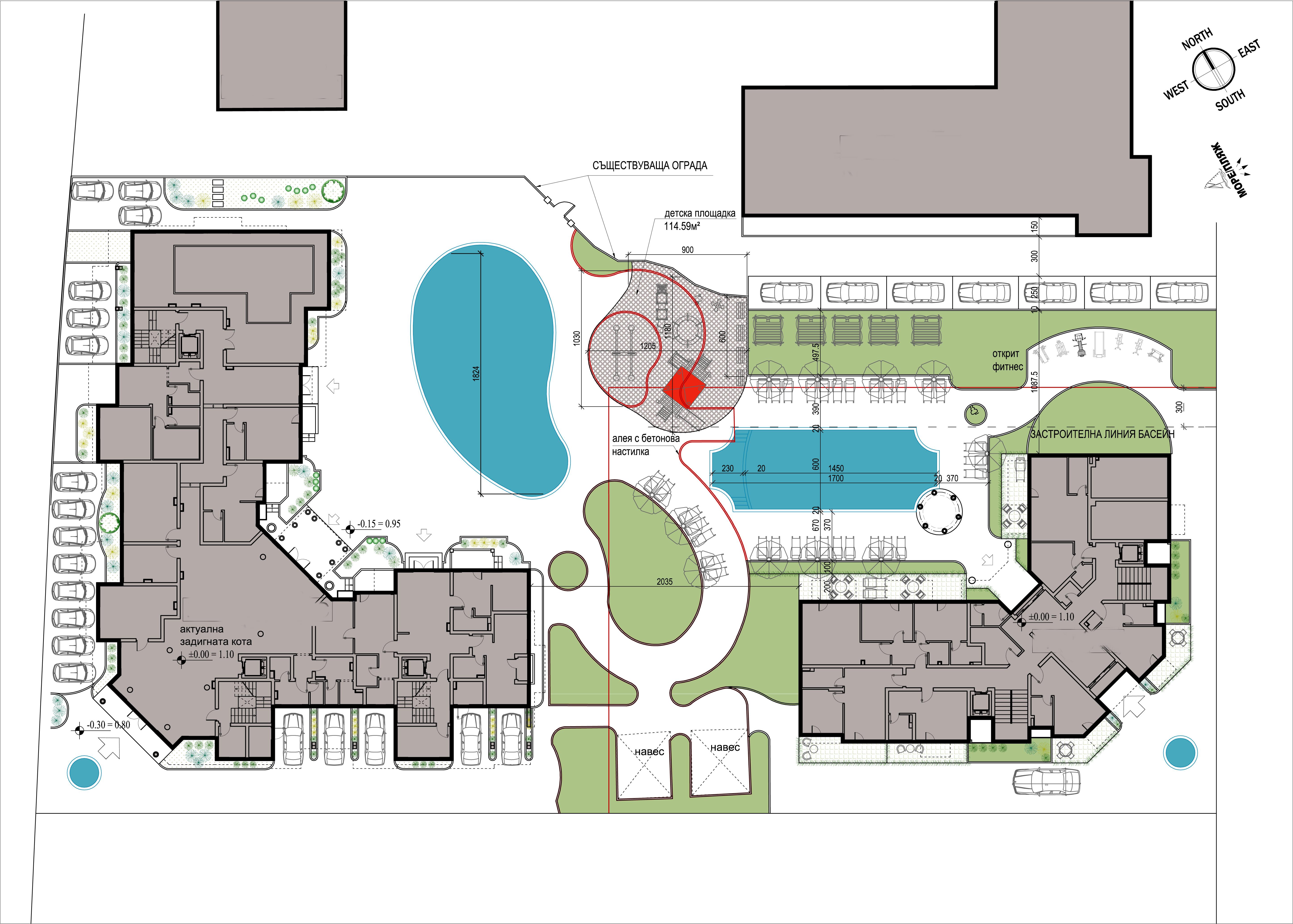 Генерален план: Апартаменти