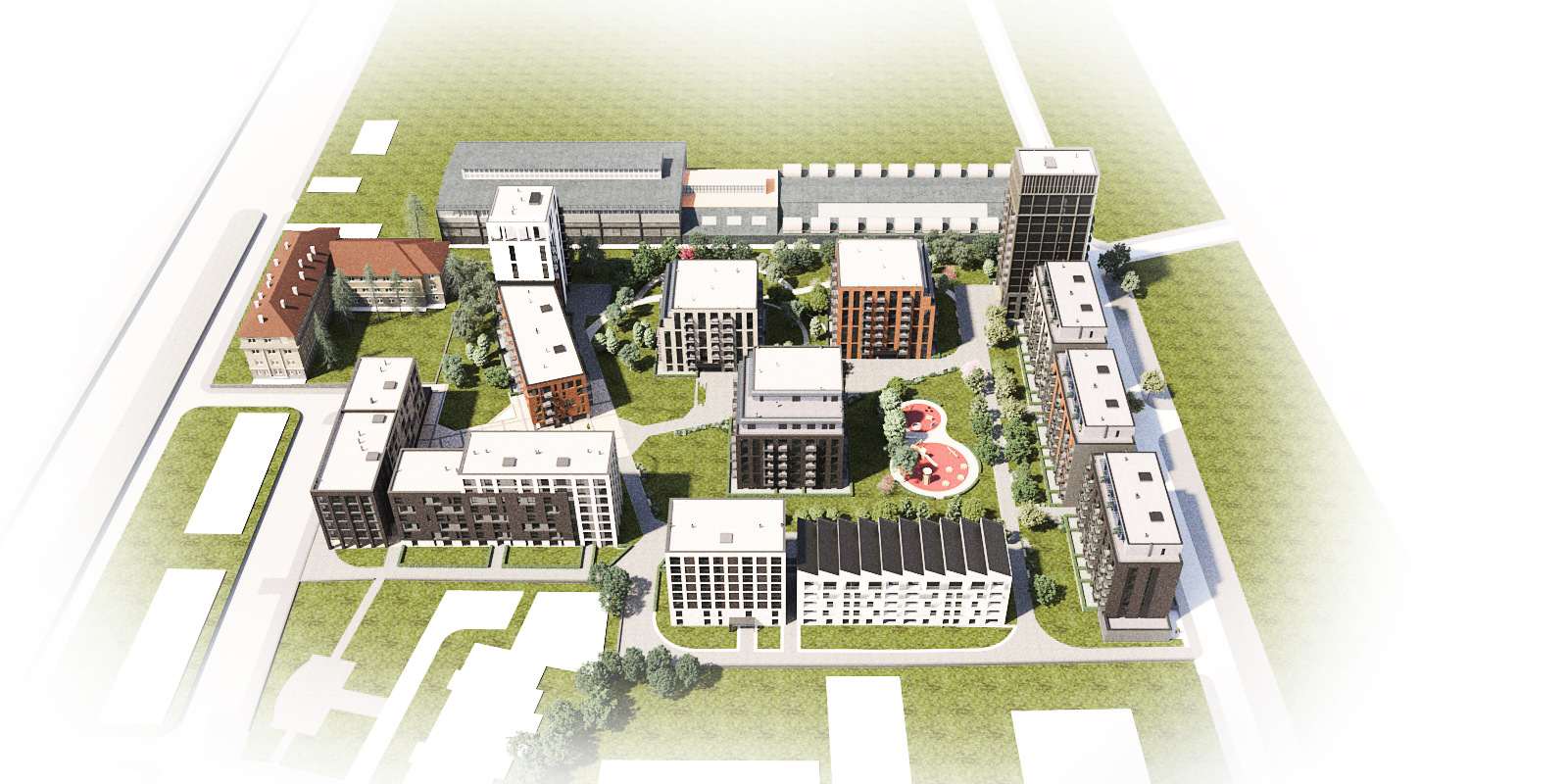 Генерален план: Комплекс Nove Homes в Красно село - 14 сгради с апартаменти и офиси